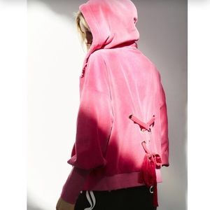 juicy couture velour lace back hoodie jacket